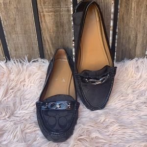 Coach Shoes - 🌸🌸Coach Black jacquard logo Driving Loafers 🌸